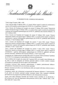 Decreto corona virus 08032020