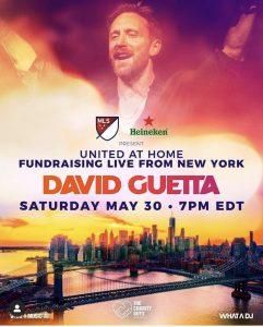 Locandina evento live David Guetta from New York