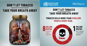 Locandine shock contro il fumo