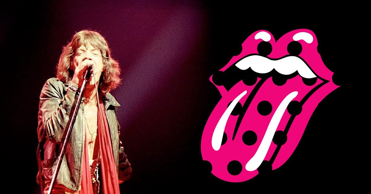 Mick Jagger ed il simbolo dei Rolling Stones