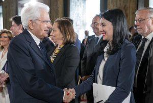 Il Presidente Mattarella e la ministra Azzolina