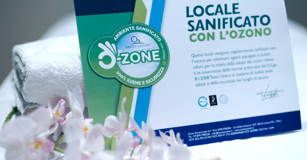 ozono per sanificare